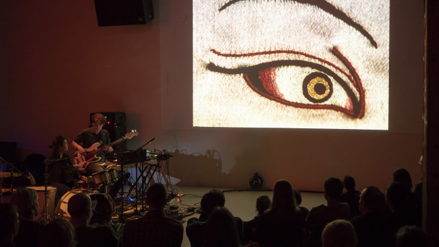 "Tomaga performing Kenneth Anger's ""Lucifer Rising"", 27. April 2018.     Foto: Lorenzo Pusterla / Kunstraum Walcheturm"